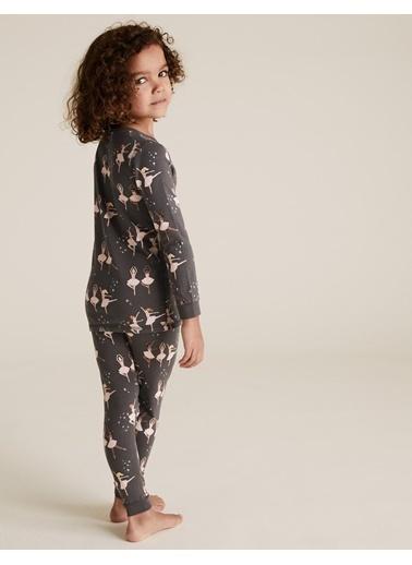Marks & Spencer Balerin Desenli Pijama Takımı Renkli